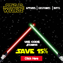 Star Wars - Save 15% use code STAR15