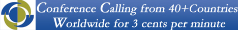 conference calling from 40+countrie worldwide for 3 cents per minute