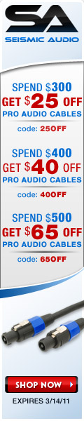 Seismic Audio Speakers March Coupon