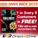 1 in 5 game orders is FREE at Direct2Drive.com!