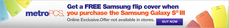 728x90 - FREE Samsung Flip Cover with purchase of the Galaxy S III