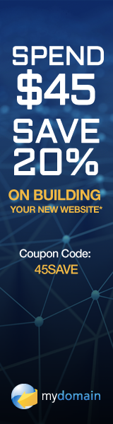 Spend $45, Save 20% at Domain.com with code 45SAVE