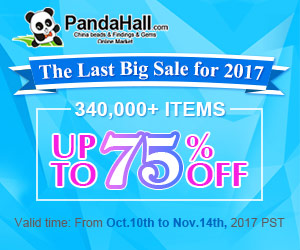 The Last Big Sale for 2017. Up to 75% OFF on Beads and Findings. Ends on Nov.14th,2017 PST