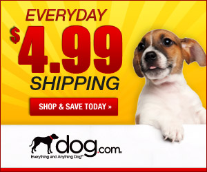 $5.99 Flat Shipping up to 20lbs at dog.com