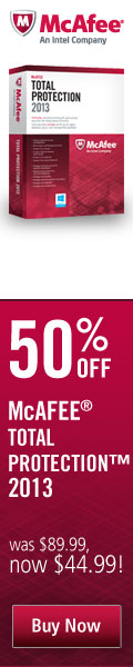 50% off McAfee Total Protection