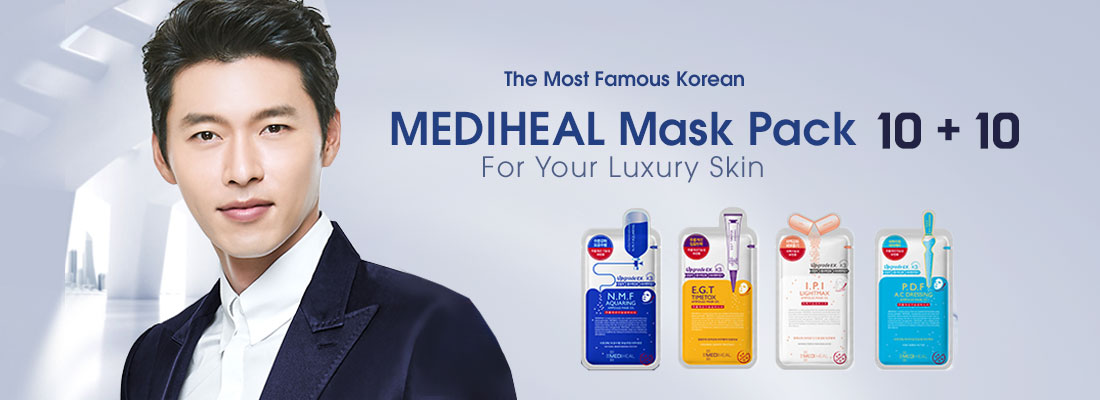 10sheets+10sheets MEDIHEAL MASK PACK Start From $13 ($25 value) ONLY AT KOREANMALL