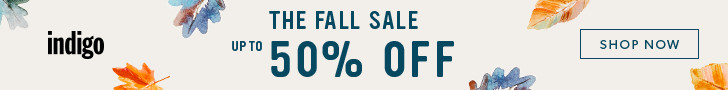 The Fall Sale at Indigo.ca!