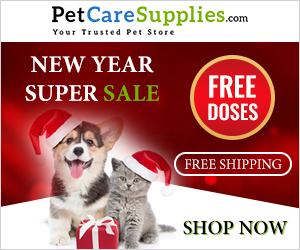 Wish You and Your Pet a Very Happy New Year with 18% Extra Discount + Free Shipping on Everything