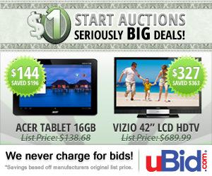 Auctions Starting at $1 at uBid.com!