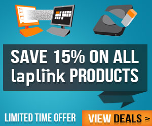Save 15% off Laplink products! Ends 9/30/14
