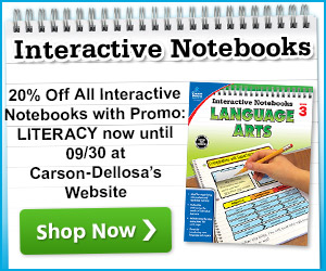 20% Off All Interactive Notebooks and Word Study Resource Books