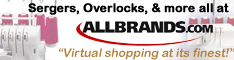 Sergers, Overlocks and more all at AllBrands.com