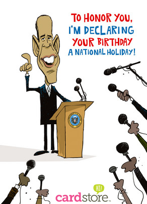Affiliate Exclusive! 50% off Political Birthday Cards at Cardstore! Use code: CAM2378