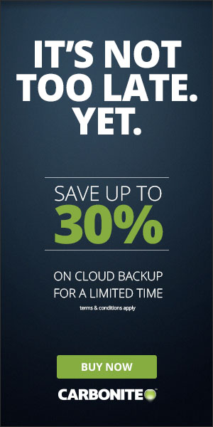 Limited Time Only: Save up to 30% on easy, affordable computer backup. Buy Now!