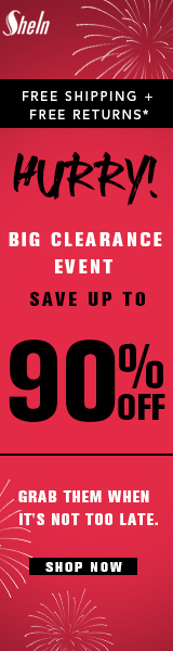 Huge Clearance Sale at SheIn - Shop now to save up to 90%, get free shipping and free returns - Ends