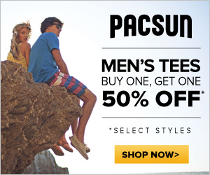 Men's Tees buy One, Get One 50% Off