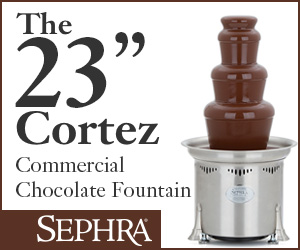 Sephra Commercial and Home Chocolate Fountains