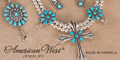 American West Jewelry Sleeping Beauty Turquoise collection, made in America