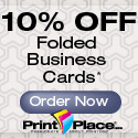 10% off Folded Business Cards at PrintPlace.com