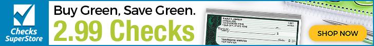 Designer Checks As Low as $7.99 per Box at Checks Superstore! Shop Now!