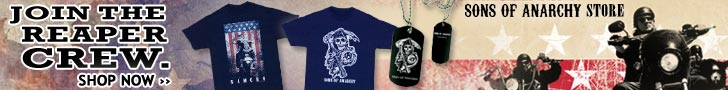 Sons of Anarchy gear at the Fox Shop