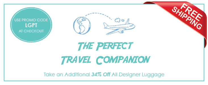 -Designer Luggage Sale 34% Off Plus Free Shipping! Use Promo Code LGPT at Checkout.-