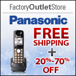 Free Shipping on Panasonic Products