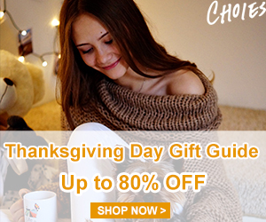 Considerate Thanksgiving Deal!Up to 80% OFF!  Grab something NEW in the Gorgeous Festival!