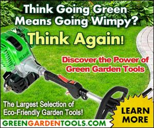 Go Green and SAVE at GreenGardenTools.com