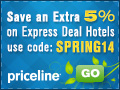 Get an Additional 5% Off on Your Express Deal Hotel. Stay Anytime, 2 Star Hotels and Above