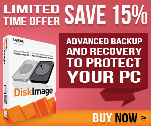 Protect your PC with advanced backup and recovery software DiskImage! 15% off until 9/30/14
