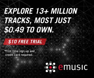 13 Million Tracks $10 FREE TRIAL