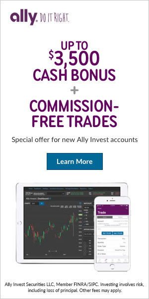 Up to $3,500 cash bonus + commission free trades for new accounts