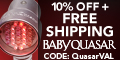 10% off PLUS Free Shipping - QUASARVAL (coupon cod