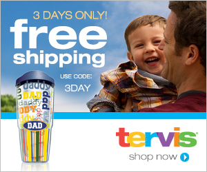 Receive a Free Lips Mug or 16oz Tumbler When You Spend $50 at Tervis.com