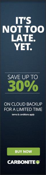 Buy Carbonite Computer Backup and for a limited time only, save up to 30%!