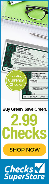 Designer Checks As Low as $7.99 per Box at Checks Superstore! Shop Now!