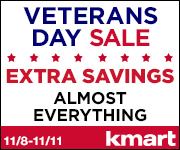 11/8-11/11 - Veterans Day Sale! EXTRA Savings on Almost Everything + 100s of items already on sale