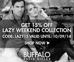 Take 15% Off the lazy weekend collection for Men and Women from Buffalo Jeans CA. Use code: LAZY15.