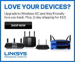 Linksys Store New Device Banner 300x250