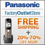 Free Shipping on Panasonic Products