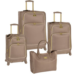 Anne Klein Madrid 4 Piece Spinner Luggage Set Now Only $255.97 Plus Free Shipping. Org. $960.00 Use Promo Code AKMD at checkout.