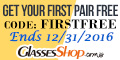 First Pair Free Offer at GlassesShop! Promo ends 12/31/2016
