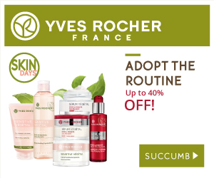 Enjoy 5% OFF with every order at Yves Rocher! Use coupon code YROCHER5 at checkout.