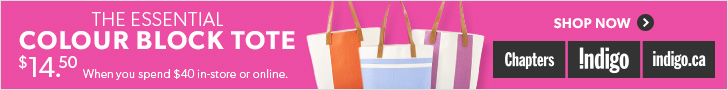 The Essential Colour Block Tote. Now Only $14.50 When You Spend $40 or more at Indigo.ca!