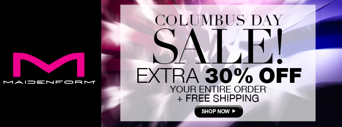 Maidenform: Columbus Day Sale Extra 30% Off + FREE Shipping
