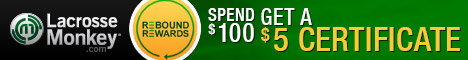Rebound Rewards at Lacrosse Monkey: Earn $5 in rewards for every $100 spent! Offer valid 9/1-9/30/13