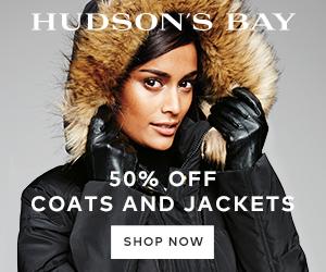 (12/10-1/31) 50% off select coats and jackets at TheBay.com