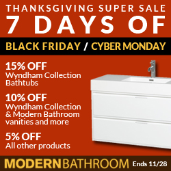 Modern Bathroom Sale up to 15% Off