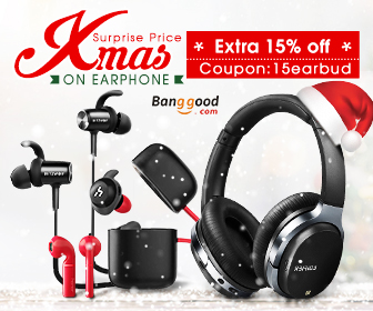15% OFF for Earphone Christmas Sale